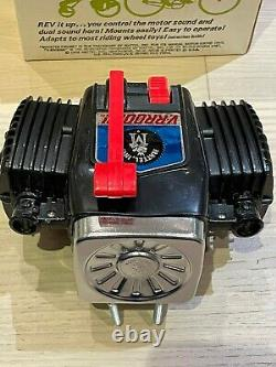 NOS Mattel V-Rroom Bicycle Motor Siren Toy Muscle Bike Murray Huffy Mint in Box