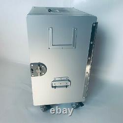 Neue XL Alu Box Unit mit Rollen inkl. Schloss & 3 schw. Laden / Flugzeugtrolley
