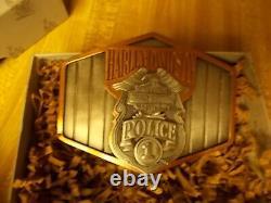 New in Box Harley Davidson Police Belt Buckle Mint