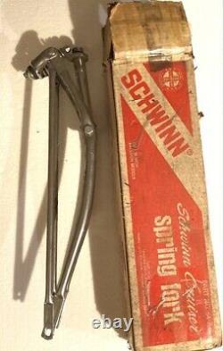 Nos Orig 1970s-80s Made In USA Schwinn Deluxe Cruiser Chrome Spring Fork In Box