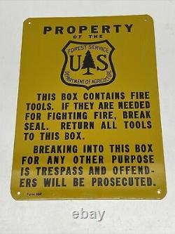 Nos Vintage Forestry Fire Tool Box Criminal Warning Us Forest Service Department