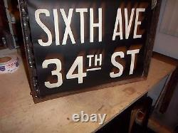 Ny Nyc Subway Roll Sign Box R1/9 Complete Bmt Coney Island Brooklyn Canal Fulton