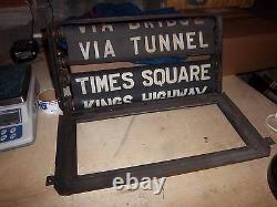 Ny Nyc Subway Roll Signs Complete Box Bmt Standard Times Square Tunnel Bridge
