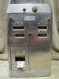 Old Bus Streetcar Trolley Fare Box Johnson New York Chicago token coin farebox