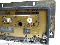 Old Rockwell Mfg Co TAXI CAB METER Fare Box Ohmer Corp Dayton Ohio