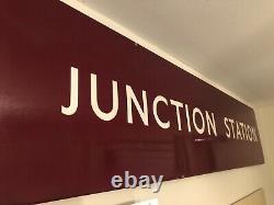 Original British Railways Midland Enamel Sign SUTTON JUNCTION STATION Signal Box