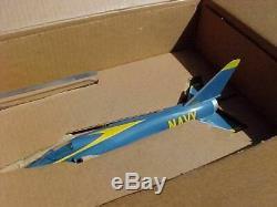 Original Vintage Topping F-11 Tiger Blue Angels Aircraft Desk Model In Box