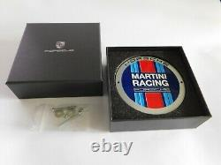 PORSCHE 911 356 MARTINI RACING Team Enamel Car Grill Radiator Badge Sign + Box
