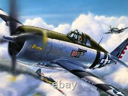 P-47d Thunderbolt Original Box Top Revell Models Art Studio Painting Awesome