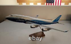 Pacmin 1/100 Boeing B747-400 House Color Livery Airplane Model in Original Box