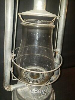 RARE Mint Crinkle Corner Double Wire Berger Lantern with Marked Berger Globe