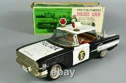 R&L Diecast Ichiko Japanese Tinplate 1960's Chevy Police Car Chevrolet, Boxed