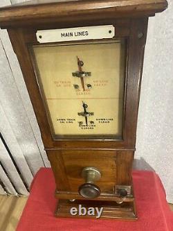 Railway Signal Box Main Line Instrument LNWR