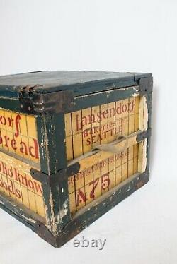 Rare Antique Vintage Bread Railroad Crate Wooden Box Advertising Large