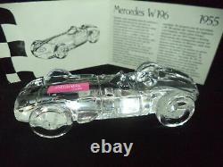 Rare Atlantis Crisal 1955 Mercedes W196 F1 race car leaded crystal original box