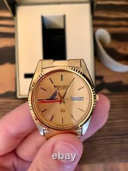 Rare Piedmont Airlines 1980s Mens Seiko Watch In Box