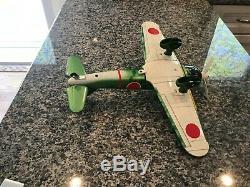 Rare, Vintage, Nos, Marusho Co, Model M-7a Tin Zero Fighter Plane New In Box