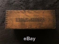Rolls-Royce Pre-War Factory Gauge Stores Wood Box Crate c1938 Crewe England OEM