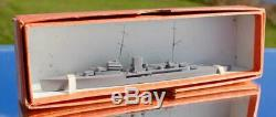 Royal Navy Hms Leander Recognition Bassett Lowke Waterline Model Ship Boxed Mint