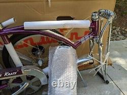 Schwinn 1999 Grape Krate Stingray Bicycle Reproduction New In Box
