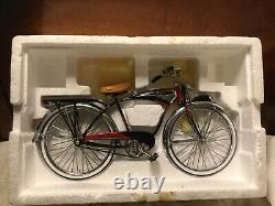 Schwinn Black Phantom Bicycle Die Cast Model 16 Scale In Original Box