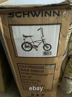 Schwinn Grape Krate Classic Bicycle 20 Inch New in Box Never Opened