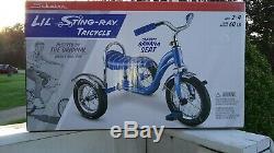 Schwinn Lil Stingray Tricycle banana seat slicks New In Box! BLUE