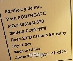Schwinn Rare Blue Stingray Krate 20 Inch 2007 Limited Edition Bicycle New In Box