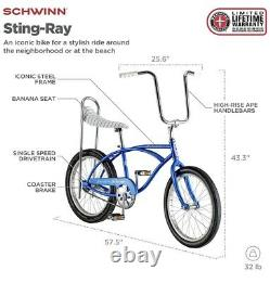 Schwinn Stingray Sting Ray banana seat 20 bike BLUE -or- GREEN NEW In Box
