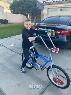 Schwinn Stingray Sting Ray banana seat 20 bike Color Is BLUE NEW In Box