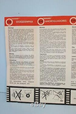 Shelby Orig 1965 66 1967 GT350 500 Koni Shock Installation Glove Box Manual SAAC