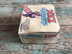 Shimano DX BMX Pedals Silver New Old Stock Boxed 80's
