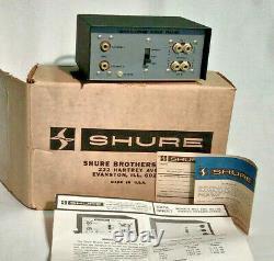 Shure Stereo Preamplifier M64 AMTRAK Train Original Box Paper RARE New Old Stock