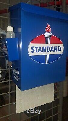 Standard Oil 1950s Era Gas Station Towel Box Dispenser New