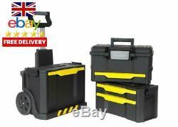 Stanley Rolling Workshop Tool Storage Transportation Box On Wheels DIY Garage