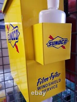 Sunoco 1950s Gas Oil Station Towel Box Dispenser New Yellow On Yellow