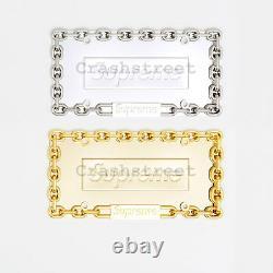 Supreme FW18 Chain License Plate Frame box tee logo watch keychain
