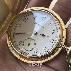 Tiffany & Co Pocket Watch 18k Yellow With Solid Thick Chain Box and Receipt