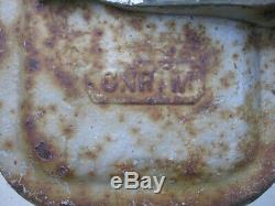US & S Switch box CNR Railway RAIL ROAD CROSSING lights Original 1940s cast iron