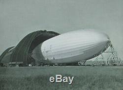 U. S. S. Akron/Goodyear Zeppelin Dock Framed Photo Duralumin corner pieces