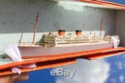 Union Castle Line Warwick Castle Rare Boxed Bassett Lowke Waterline Model Ship