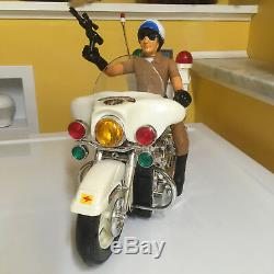 VINTAGE SUN TA TOYS LARGE SCALE B/O POLICE MOTORCYCLE PERFECTLY WORKING WithBOX
