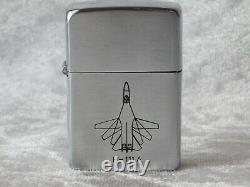 VTG 1950's USAF General Dynamics F-111A Jet Bomber Aircraft Zippo Lighter with Box