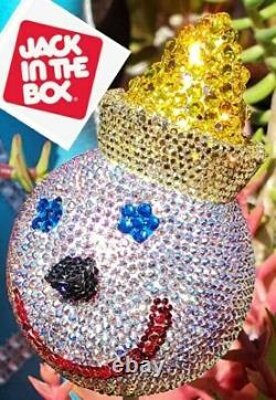 Very Rare, Jack In The Box Antenna Ball Topper BLINGED OUT SWAROVSKI CRYSTALS