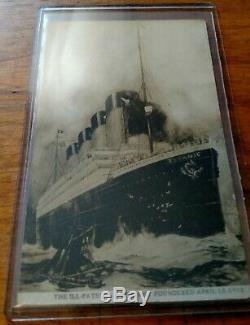 Very Scarce Rppc S. S. Titanic Postcard Ill- Fated April 15 1912 Azo Box