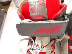 Vintage 1986 Avia Transport 1355MR High Top RED WHITE CHARCOAL SNEAKERS WITH BOX