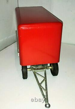 Vintage 50s Smith Miller Smitty Toys Pup Trailer with Box Pressed Steel 1/16