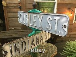 Vintage / Antique Double Sided Corner Street Sign