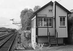 Vintage BR (Sc) British Railways Scottish Region Enamel Signal Box Sign NAIRN