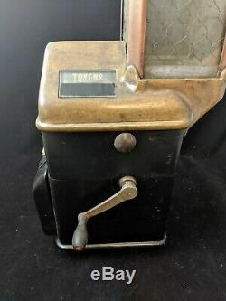 Vintage BUS FARE BOX TRANSIT BUS TOKEN Johnson Coin Op Display Rare
